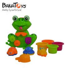 Lovely jouet en plastique de bain de bébé de style grenouille