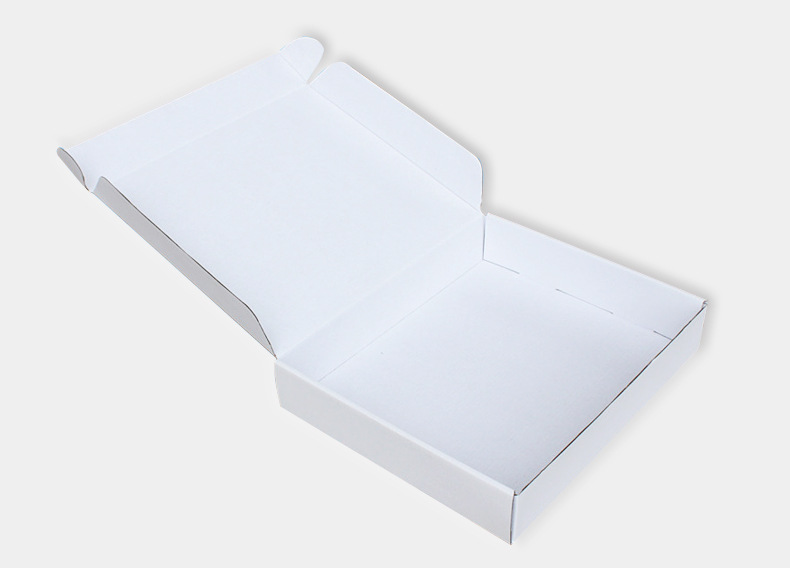 White corrugated suit shipping box