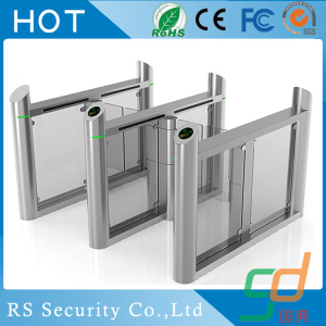 IR Sensor Fast Speed ESD Glass Turnstiles