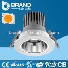 2016 Design novo alumínio Dimmable COB LED Downlight 12W, CE RoHS