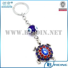 New fashion crystal paved turtle keychain car interior turkish accessory jewelry