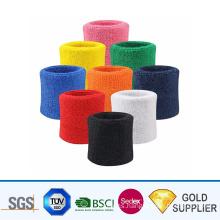 Wholesale Newest Fashion Customized Logo Sport Woven Sweat Band Wristbands From China