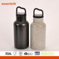 Cool Black Powder Coating Stainless Steel Sport Water Garrafa