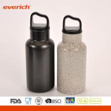 Cool Black Powder Coating botella de agua de acero inoxidable deporte