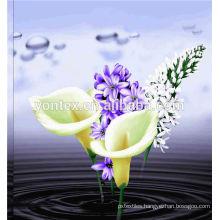 reactive flower printed bedding set/bedding set with flower