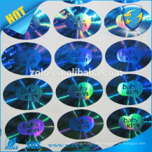 Alibaba China manufacturer hologram wheel cap sticker with holographic effect