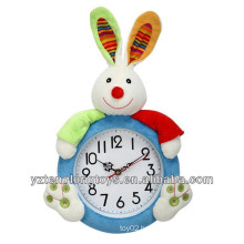 Adorable bunny decorative plush wall clock