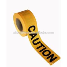 высокая прочность на разрыв баррикады ПЭ желтое предупреждение ленты
