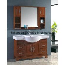 Cabinet de salle de bain en bois massif / vanité de salle de bain en bois massif (KD-448)