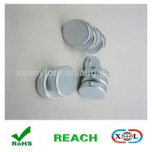15x3mm , zinc coating , round shape magnet