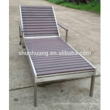 Hotel poolside recliner chairs  wood furniture sun lounger