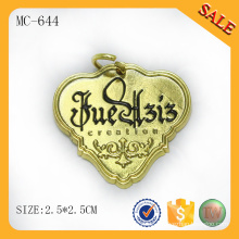 MC644 Gold Metallplatte mit benutzerdefinierten gravierten Logo