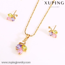 62533-Xuping Fashion Woman Jewelry Set with 18K Gold Plated