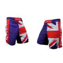 Pantalones cortos de MMA con bandera, pantalones cortos sublimados de MMA, pantalones cortos de entrenamiento al por mayor