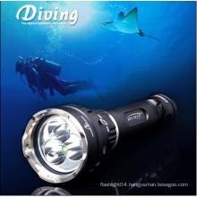 cree u2*3 led diving flashlight 3800lumens police flash light