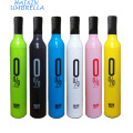 Anti UV and Best Gifts Three Fold Manual Open Bottle Wine Umbrella Manufacturers China
