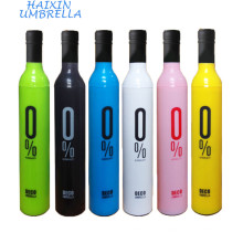 Anti UV e Melhores Presentes Três Dobras Manual Aberto Garrafa Vinho Guarda-chuva Fabricantes China