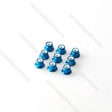 farbige Sperrflanschmutter Aluminium M4 Muttern