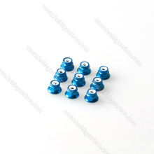 M5 tuerca de seguridad de brida naranja M2, M3, M4, M5 tuerca de seguridad de inserción de nylon de acero