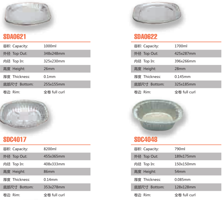 foil pan catalog