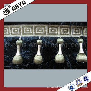 China Wholesale Polyester Beaded Fringe Beads Trims For Curtain Decoration Sofa Covers