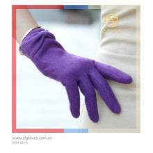 Customized wool stylish touch gloves for lady