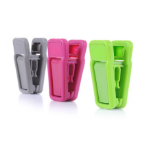 Plastic velvet hanger clips