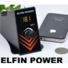 2014 Venta caliente Tattoo Elfin Power-1 de suministro, Professional Digital regulado fuente de alimentación