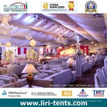 Tentes extérieures d'événement de mariage de luxe 60X200FT avec l'éclairage