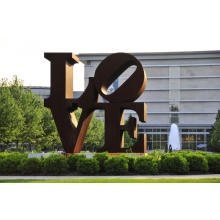 Large Size Corten Steel Abstact Love Sculpture