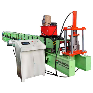 steel roofing metal water rain gutter roll forming machine that manufactures square tube