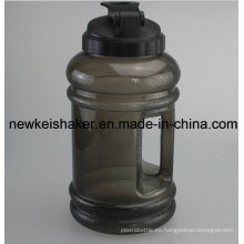 Botella de Joyshaker del agua de PET de 2.2L con la boca ancha de la manija