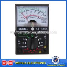 Multimètre Analogique Multimètre Mètre Analogique, Voltage Mètre Courant Compteur Portable Mètre YX Testeur YX-1000A