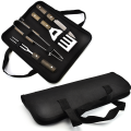 4PCS Wooden Handle BBQ Tools With Oxford Bag