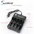 10 slotsPortable USB battery charger for li-ion 1865014500