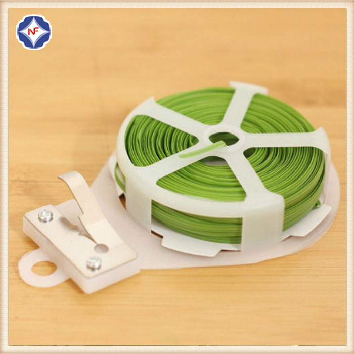 Plastic Coated Green Twist Tie For Gardening