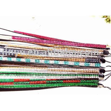 Shangdian Crafted Bling bling Rhinestone cordón collar de diamantes de imitación