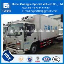 Mini camions réfrigérés de JAC 4x2 a isolé de petits camions de congélateur de lumière de petit camion de congélateur à vendre le corps de camion réfrigéré