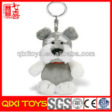 Customized logo cute gift dog keychain