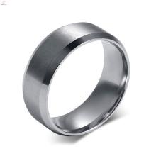 Nuevo anillo de dedo del diseño del nuevo diseño, anillo en blanco del acero inoxidable para el embutido