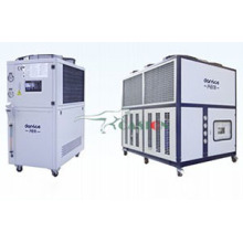 Air cooled water chiller with screw compressor