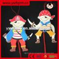Günstige Holzschnur echte Puppe mit Sea Rover Design
