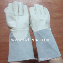 Cowhide Lether Welding Gloves Safety Work Glove