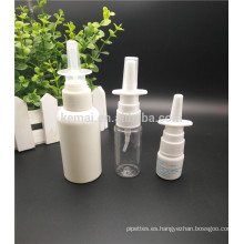 PE 10ml 20ml 30ml HDPE Plástico Vacío Nasal Spray Botellas