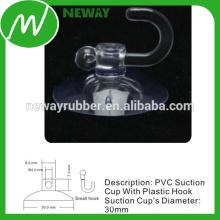 Taza de succión de 30 mm con gancho de plástico pequeño