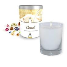 Tarro de cristal colorido de la vela del regalo perfumado Hotsale