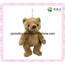 Плюшевые игрушки Симпатичные коричневый медведь брелок