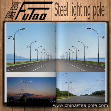 9M Galvanized Street Light Pole