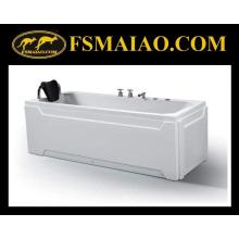 Свободностоящая глянцево-белая акриловая ванна (BA-8703)