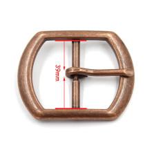 Liga simples de bronze homens moda fivela de cinto